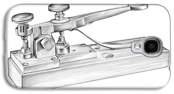 Morse Telegraph Galaxy S4 Case by Greg Joens