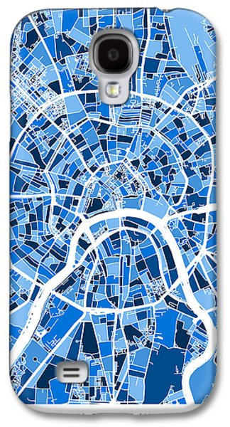 Moscow City Street Map Galaxy S4 Case by Michael Tompsett