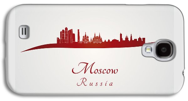 Moscow Skyline In Red Galaxy S4 Case