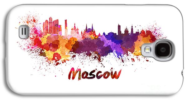 Moscow Skyline In Watercolor Galaxy S4 Case