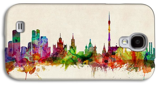 Moscow Skyline Galaxy S4 Case by Michael Tompsett
