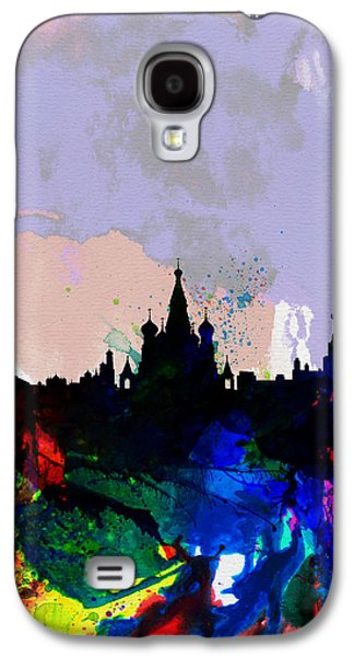 Moscow Watercolor Skyline Galaxy S4 Case