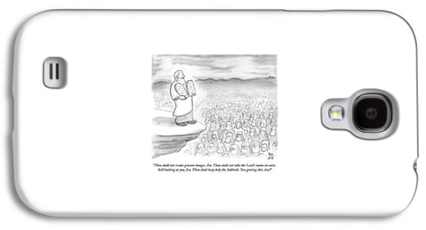 Moses Recites The Ten Commandments To An Audience Galaxy S4 Case