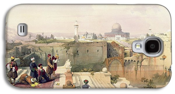 Mosque Of Omar Showing The Site Of The Temple, Plate 8 From Volume I Of The Holy Land  Galaxy S4 Case by David Roberts