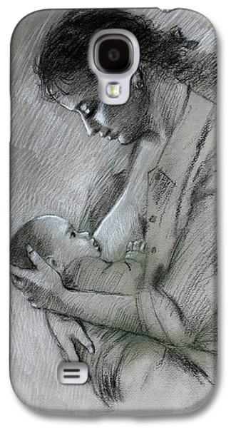 Feeding Young Galaxy S4 Case - Mother And Baby by Viola El