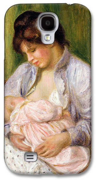 Mother And Child Galaxy S4 Case by Pierre Auguste Renoir