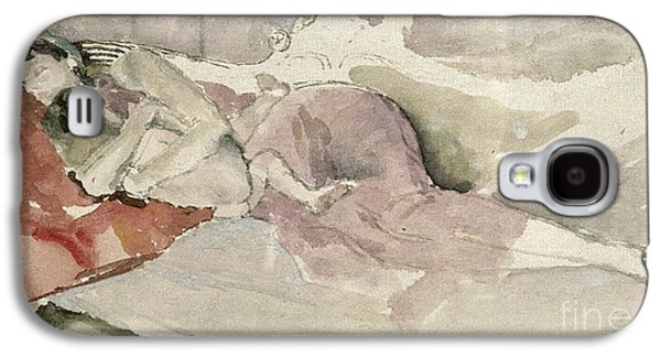 Mother And Child On A Couch Galaxy S4 Case