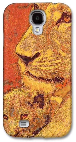 Mother And Cub Galaxy S4 Case by Jane Schnetlage