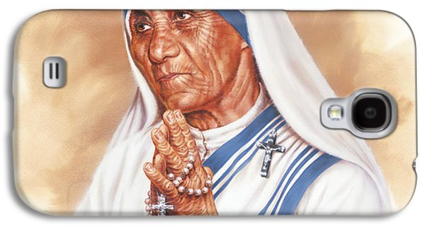 Mother Teresa Galaxy S4 Case by Dick Bobnick