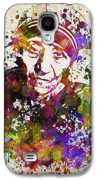 Mother Teresa In Color Galaxy S4 Case by Aged Pixel