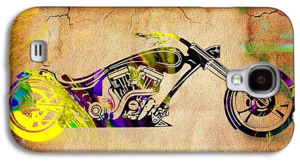 Motorcycle Chopper Galaxy S4 Case by Marvin Blaine