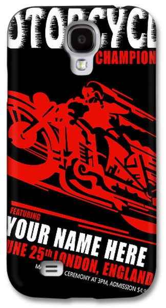 Motorcycle Customized Poster 2 Galaxy S4 Case by Mark Rogan