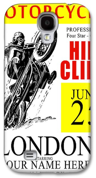 Motorcycle Customized Poster 6 Galaxy S4 Case by Mark Rogan
