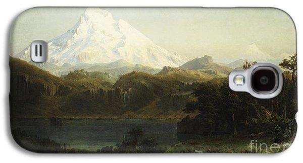 Mount Hood In Oregon Galaxy S4 Case by Albert Bierstadt
