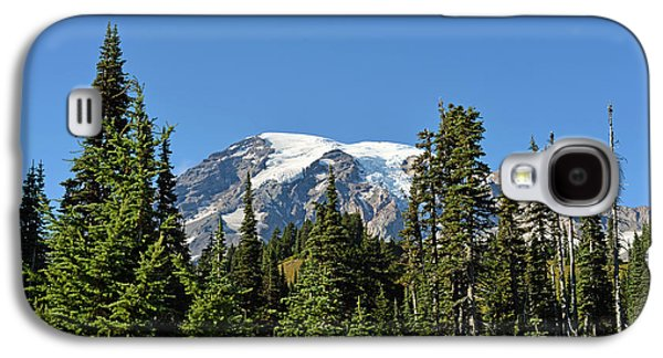 Galaxy S4 Case featuring the photograph Mount Rainier Evergreens by Anthony Baatz
