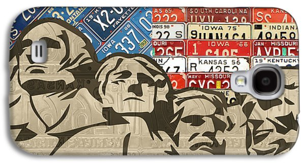 Mount Rushmore Monument Vintage Recycled License Plate Art Galaxy S4 Case