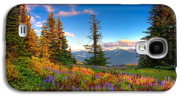 Mountain Rainier  Sunset Galaxy S4 Case