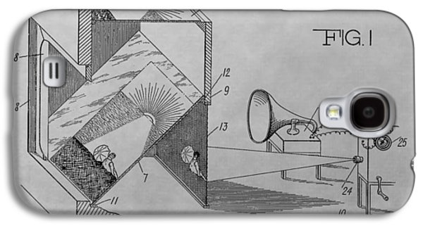 Movie Theater Patent Drawing Galaxy S4 Case by Dan Sproul
