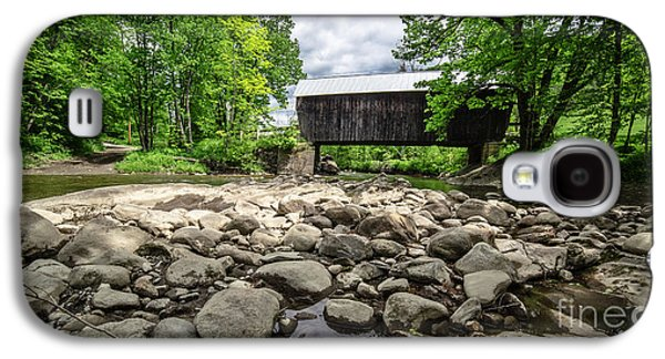 Moxley Covered Bridge Chelsea Vermont Galaxy S4 Case by Edward Fielding