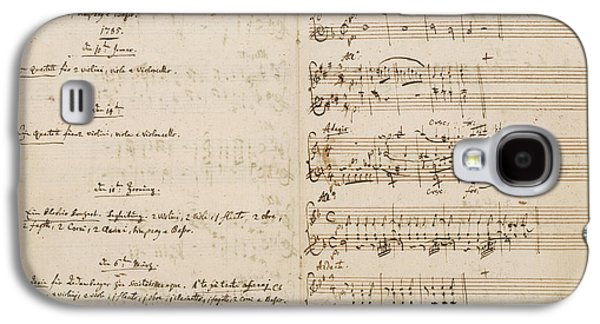 Mozart's Thematic Catalogue Galaxy S4 Case