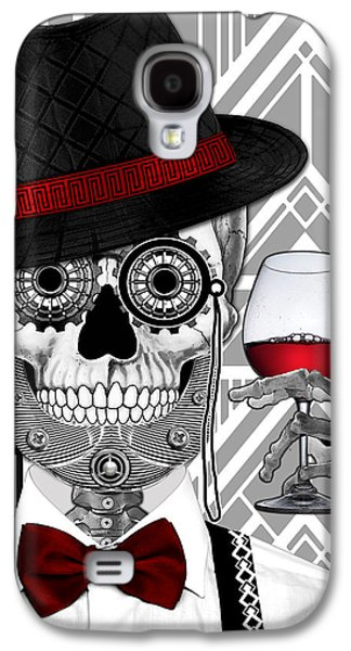 Mr. J.d. Vanderbone - Day Of The Dead 1920's Sugar Skull - Copyrighted Galaxy S4 Case by Christopher Beikmann