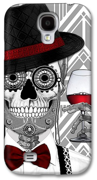 Mr. J.d. Vanderbone - Day Of The Dead 1920's Sugar Skull - Copyrighted Galaxy S4 Case
