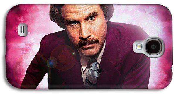 Mr. Ron Mr. Ron Burgundy From Anchorman Galaxy S4 Case by Nicholas  Grunas