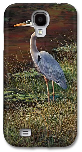 Mrs Blue Heron Galaxy S4 Case by Laurie Hein