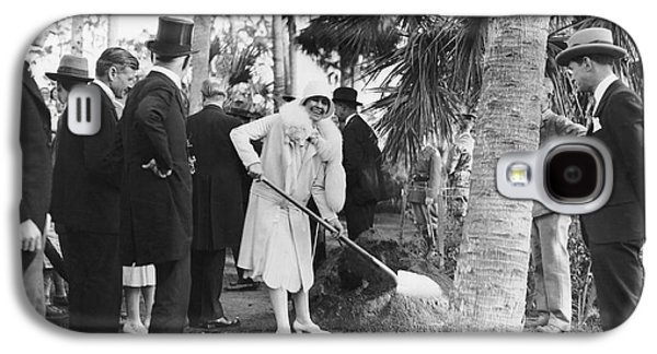 Mrs. Calvin Coolidge Planting Galaxy S4 Case by Underwood Archives