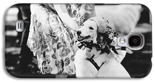 Mrs. Coolidge And Her Dog Galaxy S4 Case by Underwood Archives