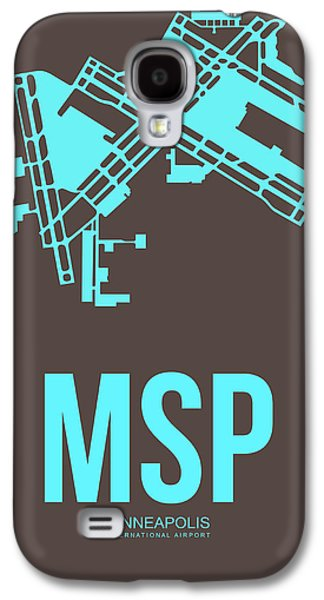 Msp Minneapolis Airport Poster 1 Galaxy S4 Case by Naxart Studio
