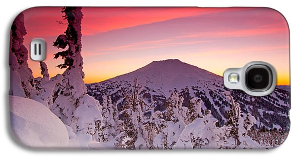 Mountain Sunset Galaxy S4 Case - Mt. Bachelor Winter Twilight by Kevin Desrosiers