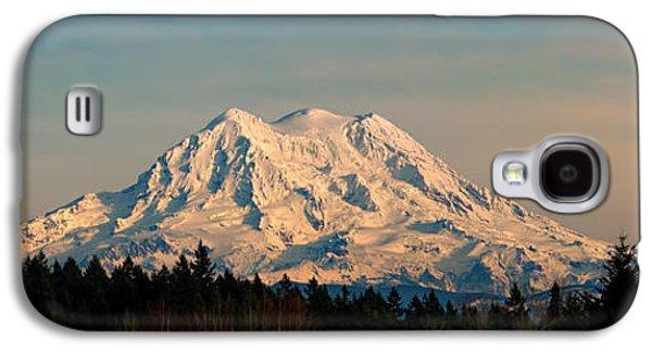 Mt Rainier Winter Panorama Galaxy S4 Case