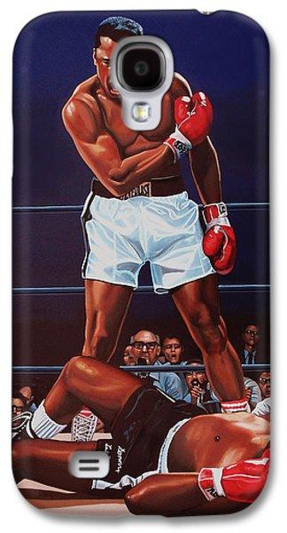 Muhammad Ali Versus Sonny Liston Galaxy S4 Case by Paul Meijering