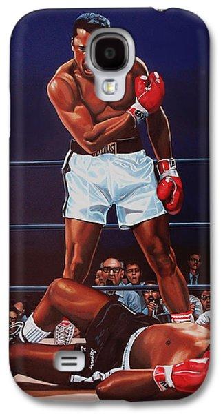 Portraits Galaxy S4 Case - Muhammad Ali Versus Sonny Liston by Paul Meijering