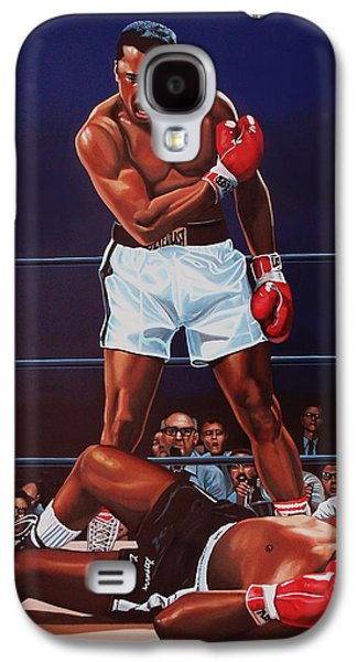 Muhammad Ali Versus Sonny Liston Galaxy S4 Case by Paul Meijering