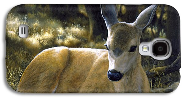 Mule Deer Fawn - A Quiet Place Galaxy S4 Case by Crista Forest