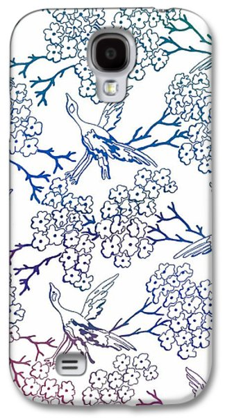 Multicolor Birds And Flowers Galaxy S4 Case