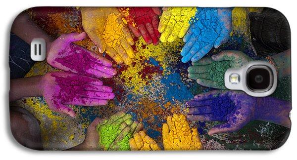 Multicoloured Hands Galaxy S4 Case
