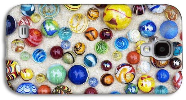 Multicoloured Marbles Galaxy S4 Case