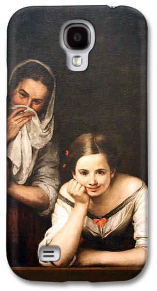 Murillo's Two Women At A Window Galaxy S4 Case by Cora Wandel