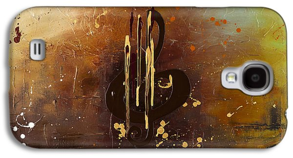 Trombone Galaxy S4 Case - Music All Around Us by Carmen Guedez