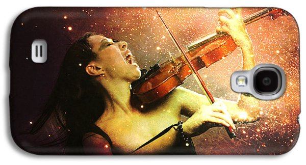 Music Explodes In The Night Galaxy S4 Case by Linda Lees