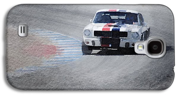 Mustang On Race Track Watercolor Galaxy S4 Case by Naxart Studio