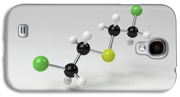 Mustard Gas Molecule Galaxy S4 Case by Indigo Molecular Images
