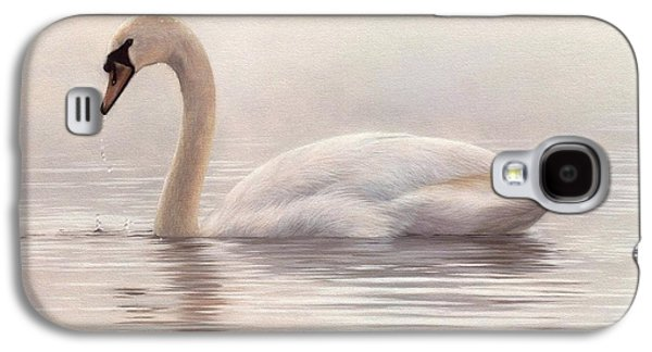 Mute Swan Painting Galaxy S4 Case