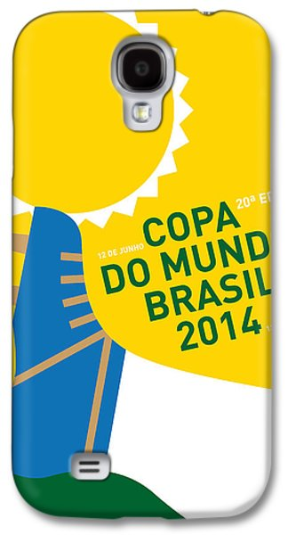 Sports Galaxy S4 Case - My 2014 World Cup Soccer Brazil - Rio Minimal Poster by Chungkong Art