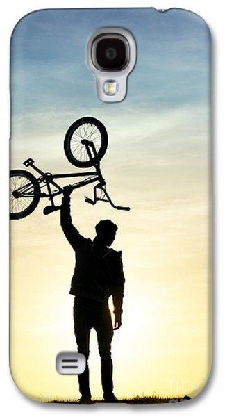 Bmx Biking Galaxy S4 Case by Tim Gainey