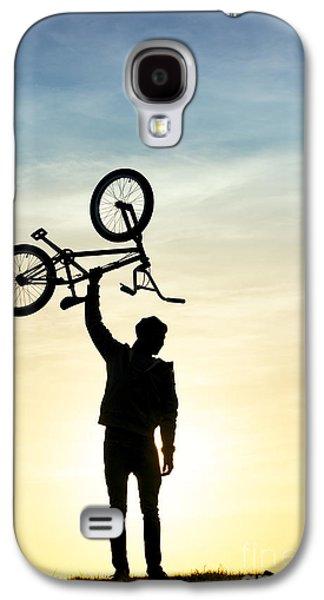 Bicycle Galaxy S4 Case - Bmx Biking by Tim Gainey
