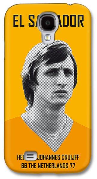 My Cruijff Soccer Legend Poster Galaxy S4 Case by Chungkong Art